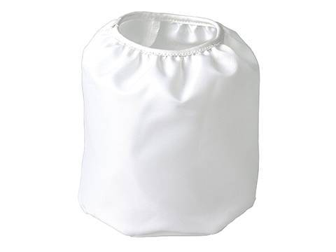 A white cotton filter cloth bag.
