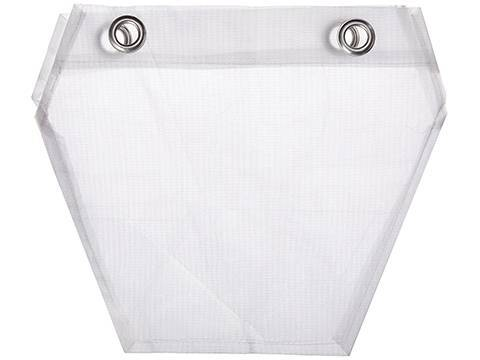 Two piece of cotton filter cloth with four holes.