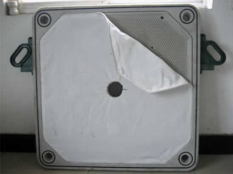 Nylon filter cloth embedded in recessed filter plate